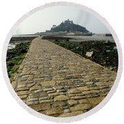 Round Beach Towel featuring the photograph Saint Michael's Mount by Lainie Wrightson