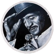 Sammy Davis Jr Round Beach Towel