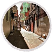 San Fran Chinatown Alley Round Beach Towel by Bill Owen