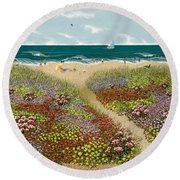 Sand Path Round Beach Towel