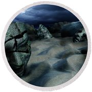 Sands Of Oblivion Round Beach Towel