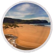 Sandwood Bay Round Beach Towel