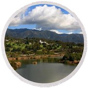 Santa Barbara Round Beach Towel