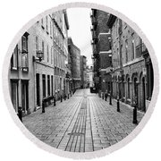 Round Beach Towel featuring the photograph Sault-au-matelot by Eunice Gibb
