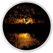 Scary Sunset Round Beach Towel