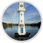 Round Beach Towel featuring the photograph Scott Memorial Roath Park Cardiff by Steve Purnell
