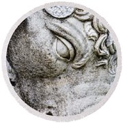 Sculpture Of Bull, Temples Of Apollo Round Beach Towel