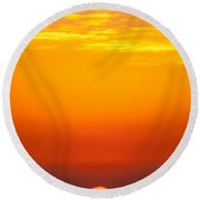 Sea Sunrise Round Beach Towel