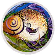 Seagrass And Sultry Non-subtlety Round Beach Towel
