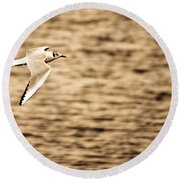 Seagull Antiqued Round Beach Towel