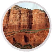 Sedona Red Round Beach Towel