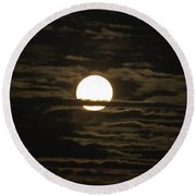 Round Beach Towel featuring the photograph Seneca Lake Moon by William Norton