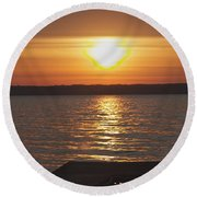Round Beach Towel featuring the photograph Seneca Lake by William Norton