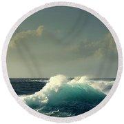 Sennen Surf Seascape Round Beach Towel by Linsey Williams