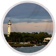 Round Beach Towel featuring the photograph Sentinel by Dan Wells