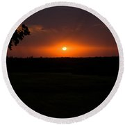 September Sunset Round Beach Towel