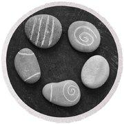 Serenity Stones Round Beach Towel