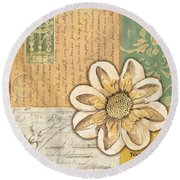 Shabby Chic Floral 2 Round Beach Towel