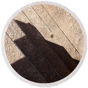 Shadow Stair Round Beach Towel