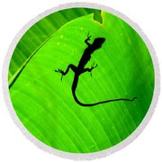 Shadowlizard Round Beach Towel