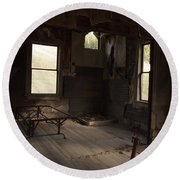 Round Beach Towel featuring the photograph Shadows Of Time by Fran Riley