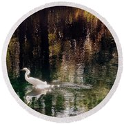 Round Beach Towel featuring the photograph Shadowwaters by Lydia Holly