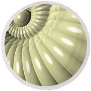 Round Beach Towel featuring the digital art Shell Of Repetition by Phil Perkins