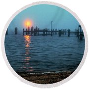 Round Beach Towel featuring the photograph Shhh Listen by Clayton Bruster
