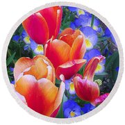 Shining Bright Round Beach Towel