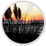 Shoreline Serenity Round Beach Towel