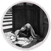 Silent Desperation Round Beach Towel by Lynn Palmer