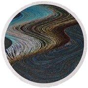 Round Beach Towel featuring the photograph Silver Bay by Ausra Huntington nee Paulauskaite