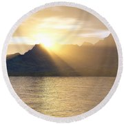 Silver Lake Round Beach Towel by Mark Greenberg