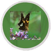 Silver Skipper Round Beach Towel