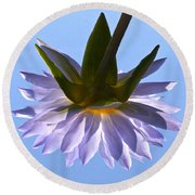 Simple Reflection Round Beach Towel by Byron Varvarigos