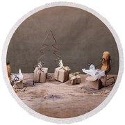 Simple Things - Christmas 05 Round Beach Towel