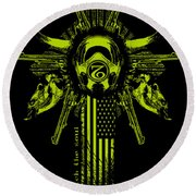 Six Shooter Round Beach Towel