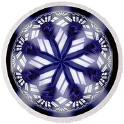 Sky Windows Round Beach Towel