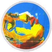Round Beach Towel featuring the painting Sleep by Gabrielle Wilson-Sealy