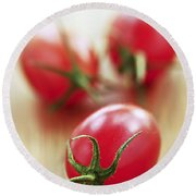 Small Tomatoes Round Beach Towel