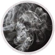 Smoke Swirls  Round Beach Towel
