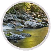 Smoky Mountain Streams II Round Beach Towel