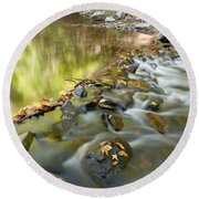 Smoky Mountain Streams Iv Round Beach Towel