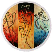 Smooth Jazz Round Beach Towel