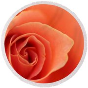 Soft Rose Petals Round Beach Towel