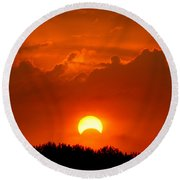 Solar Eclipse Round Beach Towel by Bill Pevlor