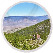 Solitude With A View - Carson City Nevada Round Beach Towel