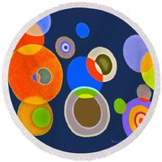 Somewhere Out There Round Beach Towel by Beth Saffer
