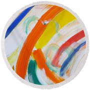 Round Beach Towel featuring the painting Souls by Sonali Gangane