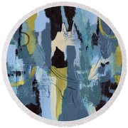 Spa Abstract 1 Round Beach Towel
